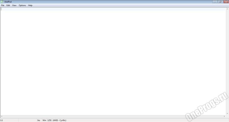AkelPad rus - Скриншот 1