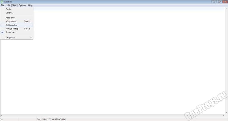 AkelPad rus - Скриншот 2