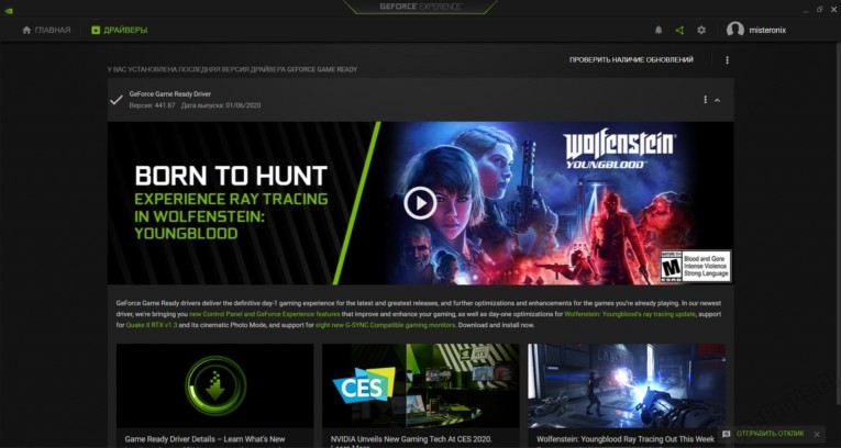 NVIDIA GeForce Driver - Скриншот 2