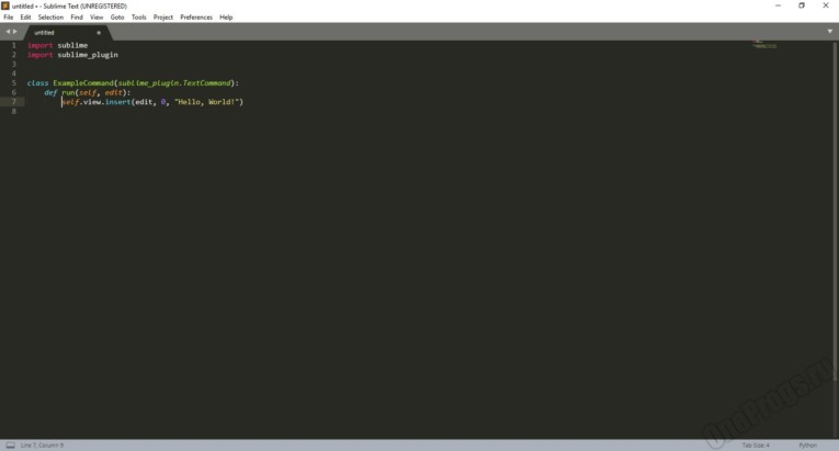 Sublime Text - Скриншот 4