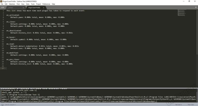 Sublime Text - Скриншот 5